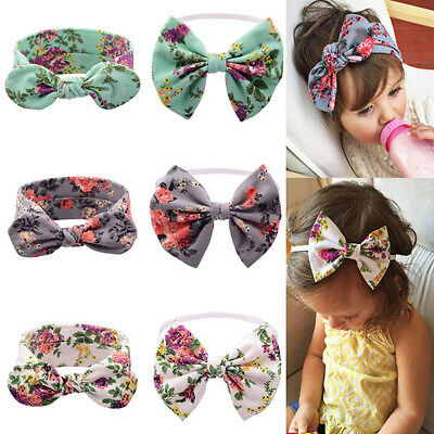 6 PC Baby Girl Toddler Kids Hairband Bow Heawear Floral Headband Accessories