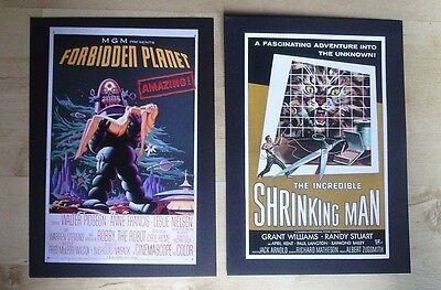 Vintage Sci-Fi Film Posters Forbidden Planet And The Incredible Shrinking Man