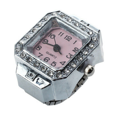 20mm Square Ring Watch Finger Watch Finger Ring Watch New TOP E5U6