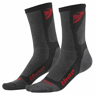 Calze Thor Dual Sport Cool charcoal rosso