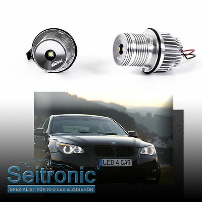 LED Angel Eyes für BMW -7er (E65 / E66 Bj: 2002-2008) 15Watt TOP !! Seitronic®