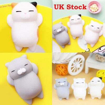3Pcs New Soft Squishy Cat Healing Squeeze Fun Kid Toy Gift Stress Reliever Decor