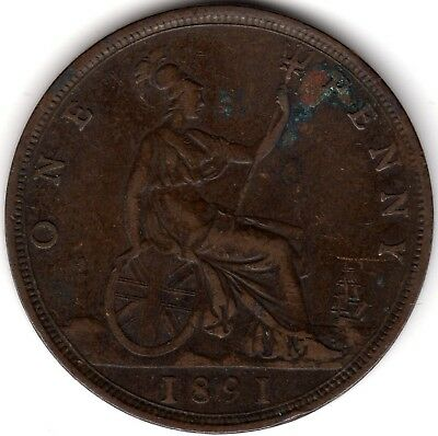 1891 Victoria One Penny***Collectors***(2)