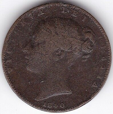 1840 Victoria Farthing***Collectors***