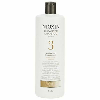 Nioxin System 3 Cleanser Shampoo for Thinning Hair 1000ml