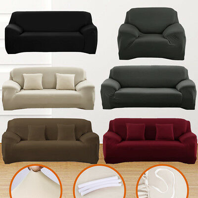 NEW 1-3 Seater High Stretch Sofa Cover Couch Lounge Slipcover Recliner Protector