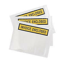 Invoice Enclosed Doculopes Pack 50 - Free Shipping