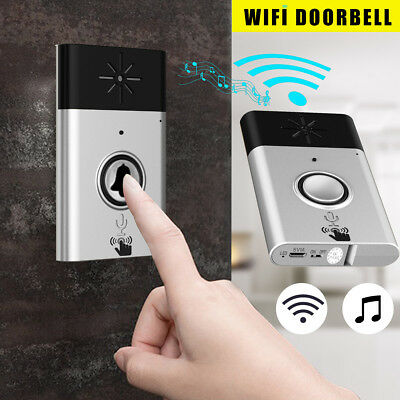 Wireless WiFi Home HD Video DoorBell Camera Electric Remote Monitor Phone Ring