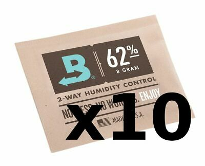 Boveda Humidipak 8 Gram (Medium) 10 Pack 2-way Humidity Control 62% RH by Boveda