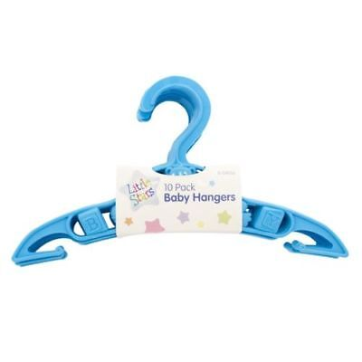 Baby Clothes Coat Dress Hangers Nursery Wardrobe Space Saver Blue New