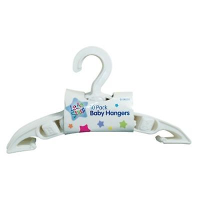 Baby Clothes Coat Dress Hangers Nursery Wardrobe Space Saver White New