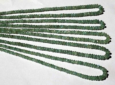 "1 Strand AAA Fine Alexandrite Gemstone Faceted Rondelle Beads 3-4.5mm 16"" Long"