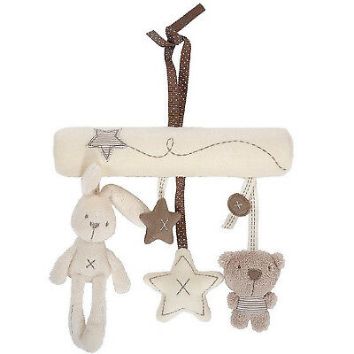 Bunny Rabbit or Dog Soft Toy Baby Nursery Cot Musical Lullaby Mobile V8J7
