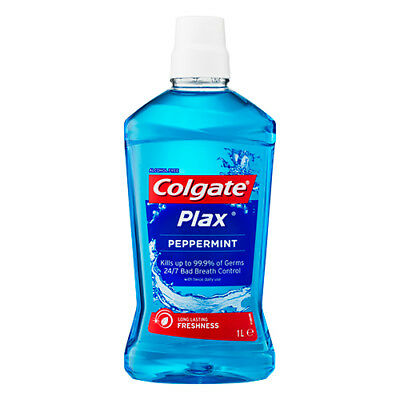 NEW Colgate Plax Mouthwash Peppermint - 1L