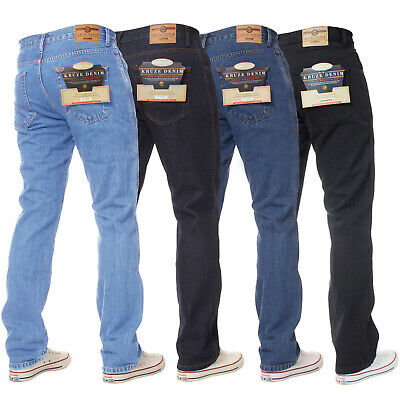 KRUZE New Mens Basic Jeans Regular Fit Work Denim Pants All Big Tall King Sizes