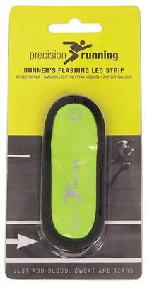 PRECISION RUNNING Runners Flashing LED Velcro Strip / Reflective Yellow (120189)