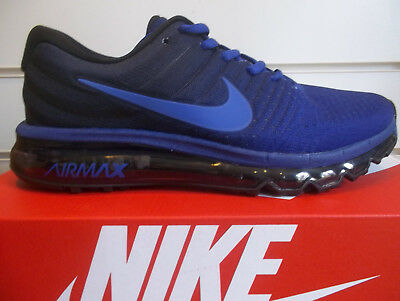 Nike AirMax 2017 Men's Running Shoe rrp £140 Stunning Trainers Navy & Black New