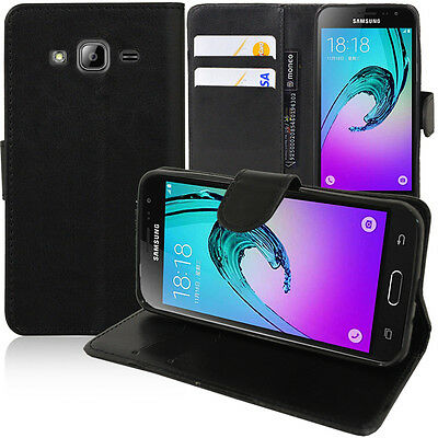Etui Coque Housse Portefeuille Support Video NOIR Samsung Galaxy J3 (2016) J320F
