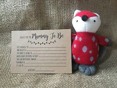 10 Brown kraft Baby Shower advice/words of wisdom for Mummy to be cards/game