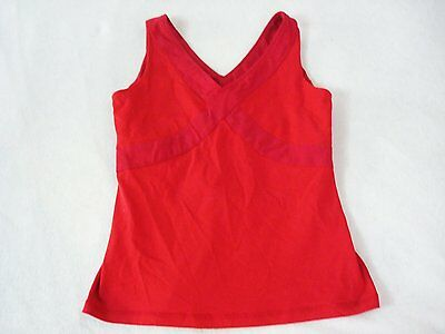 Lululemon Athletica Red Cross Tank Top Sports Bra Yoga Size 10 Women's B3