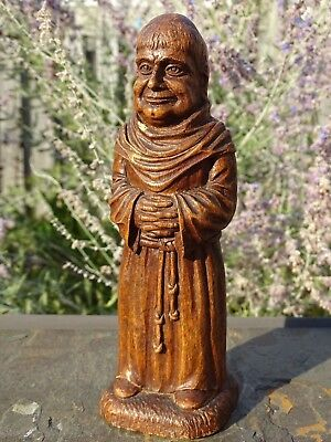 SYROCO 1940-50's MONK CORKSCREW Figural Wood Composite Barware COLLECTIBLE