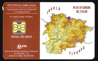 Andorre  - phone card used -