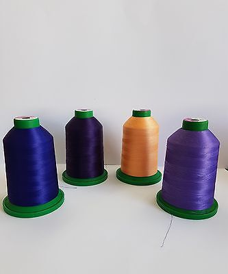 LARGE 5000m ISACORD MACHINE EMBROIDERY THREAD STRONG POLY 4 colours to choose