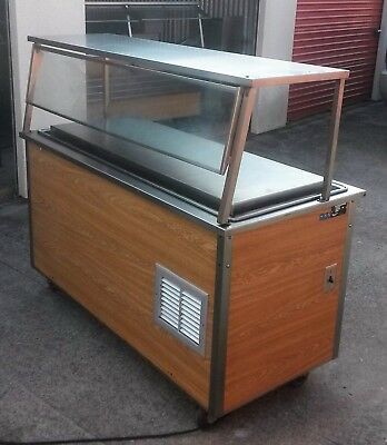 Vollrath Refrigerated Salad Bar Cold Food Buffet Table Cart w/ Sneeze Guard&Tray