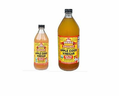 BRAGG Apple Cider Vinegar ( with Mother ) 473ml & 946ml (one each) FREE SHIPPING