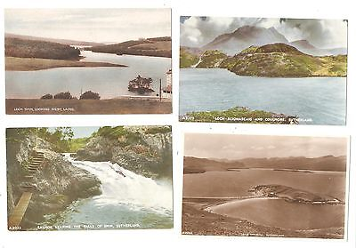 Four Postcards of  Sutherland  Scotland Scottish postcards  all unused