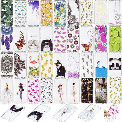 Pattern New Slim Clear Soft Silicone TPU Rubber Gel Back Case For Sony LG
