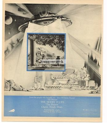 1983 THE PRESENT by THE MOODY BLUES Vtg Album Promo Print Ad