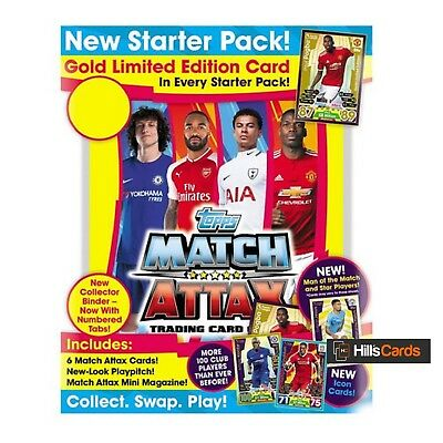 MATCH ATTAX 2017/18 Starter Pack: Premier League Football Cards + Folder - Topps
