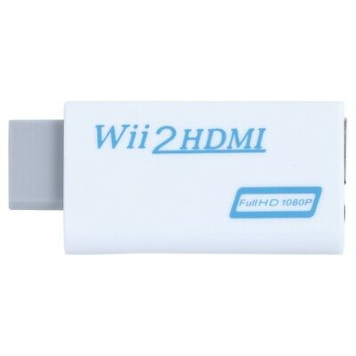 Wii to HDMI Wii2HDMI Full HD FHD 1080P Converter Adapter 3.5mm Audio Output E5J4