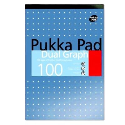 1 x Pukka Pad Dual Graph A4 100 Pages 80 gsm - Holes Punched -WH2 - WIN375 - NEW
