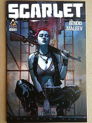 Scarlet #2 Brian Bendis Alex Maleev Marvel Comics Vf/nm 1St Printing 2010 Hbo Tv