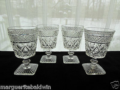 Imperial Glass 4 Clear Cape Cod Wafer Stem 8 ounce Water Goblets