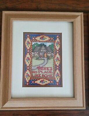 """Mary Engelbreit Framed Wall Hanging Art Print """"There's No Place Home"""" Framed"""