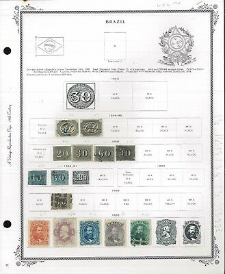 1844-1940 Brazil Mint & Used Postage Stamp Collection Album Pages Value $825