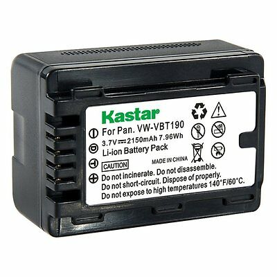 VW-VBT190 Battery& Super Fast Charger for Panasonic HC-W850MGK WX970GK WX970MGKK