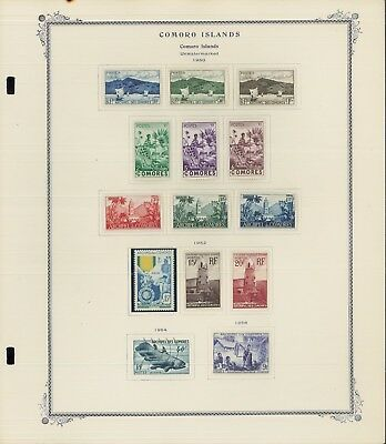 1950-1988 Comoro Islands Mint & Used Postage Stamp Collection Value $2,420
