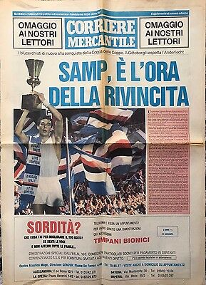 1990 ECWC Final Sampdoria v Anderlecht (RARE Italian Sampdoria Issue)
