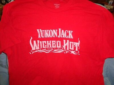 Yukon Jack Wicked Hot Whiskey T Shirt Bartender Top Large - New!