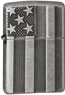 Zippo 2015 2016 Choice Catalog Flag Armor Antique Silver Patriotic 28974 NEW