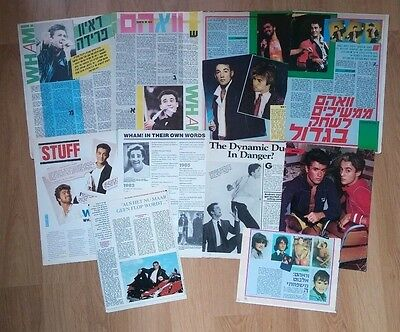 Wham! George Michael Andrew Ridgeley Vintage Clippings Cuttings Israel UK Rare