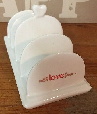 """Clover """"with Love From"""" Ceramic Toast Rack"""