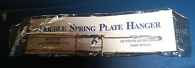 """6"""" Double Spring PLATE HANGERS*for Bread & Butter or 6"""" Plates*.BRASS WIRE"""