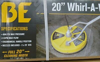 """BE 20"""" Whirl-A-Way Pressure Washer Surface Cleaner  / Driveway Cleaner"""