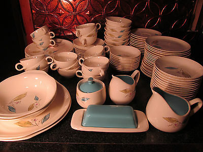 Massive Lot Of 109 Salem Biscayne Dinnerware Original 1950s Set
