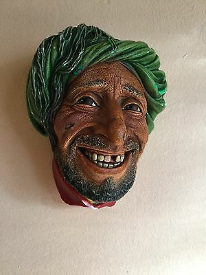 Strange and Unusual Head Face Man - Figure Marked Bossons